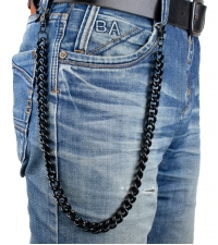 Black chain on pants