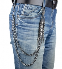 Chain on pants Meander black