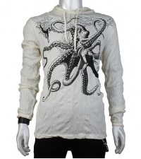 Light colored hoodie Octopus