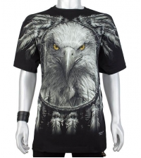 Glow in the dark Tshirt Eagle Dream Catcher