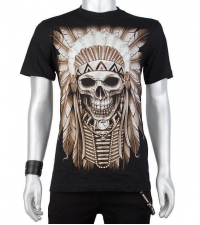 Glow in the dark Tshirt Indian Skull