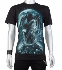 Glow in the dark Tshirt Dragon skulls