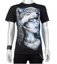 Glow in the dark Tshirt Girlwolf
