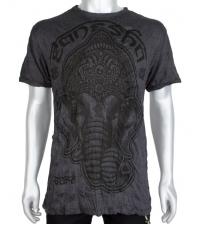 Marškinėliai tamsiai pilkos spalvos Ganesh
