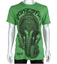 Marškinėliai Ganesh žalios spalvos