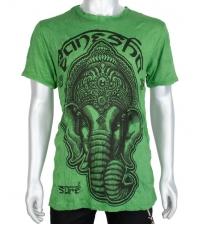 T-shirt green Ganesh