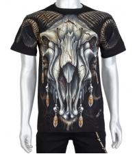 Šviečiantys tamsoje Marškinėliai Goat skull