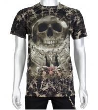 Šviečiantys tamsoje marškinėliai Skull nest
