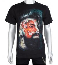 Marškinėliai šviečiantys tamsoje Hipster demon