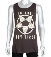 Men's Tank-top No god but pizza