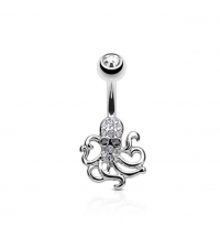 Octopus Curved barbell Thickness 1.6mm Length 10mm Ball 5mm