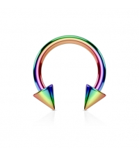 Circular barbell rainbow with spikes