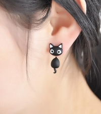 Earring Black cat