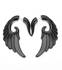 Fake spiral earring Wing