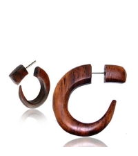 Brown horn earring Claw Diameter 7mm