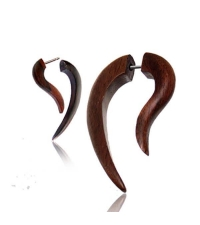 Fake long spiral earring  Diameter 7mm