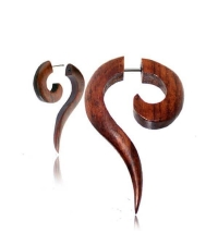 Long twisted fake spiral earring Diameter 7mm