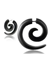 Fake horn earring Classic black curl