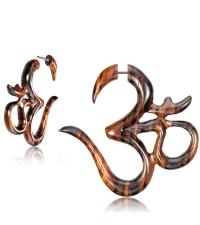 Wooden earring OM