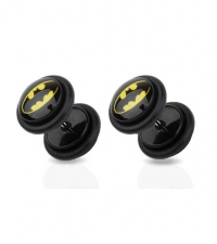 Earring fake plug imitation Batman Diameter 8mm