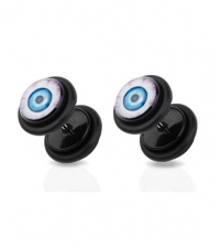 Earring fake plug imitation Blue eye Diameter 8mm