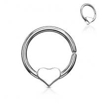 Atlenkiamas žiedas su širdele Storis 1.2mm Diametras 10mm