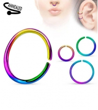 Stainless steel ring Annealed Rainbow