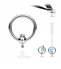 Dermal top Ring Thickness 1.2mm Ball 8mm