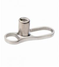 Dermal poodinio auskaro pagrindas Užsukimo diametras 1.2mm
