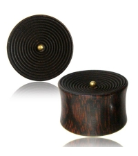 Wooden plug Carved circles