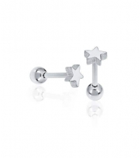 Earring small star Thickness 1.2mm Length 7mm