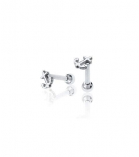 Earring small anchor Thickness 1.2mm Length 7mm