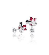 Earring Minnie Mouse Thickness 1.2mm Length 7mm