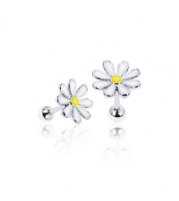 Earring Daisy Thickness 1.2mm Length 7mm