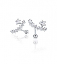 Earring Constellation Thickness 1.2mm Length 7mm
