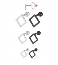 Earring Rhombus Thickness 1.2mm Length 7mm