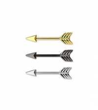 Nipple barbell Arrow Thickness 1.6mm Length 14mm