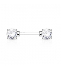 Nipple barbell Crystals
