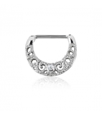 Nipple jewelry Carved clicker Thickness 1.6mm Length 14mm