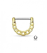 Nipple clicker Gold Chain Thickness 1.6mm Length 12m