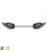 Nipple barbell Angel Wings Thickness 1,6mm Length 14mm