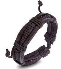 Bracelet bongo dark brown weave