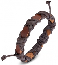Bracelet bongo Brown weave