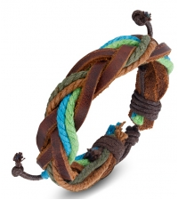 Bracelet bongo Green blue binding