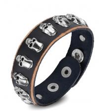 Leather bracelet Skulls