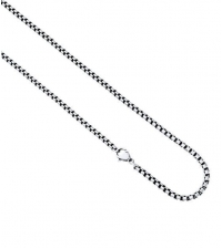 Dark steel thin round neck chain