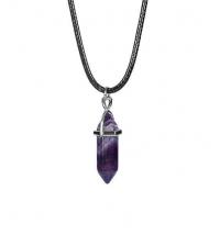 Pendant hexagonal quartz Purple