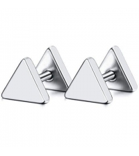 Triangle earring fake plug imitation Thickness 1.2mm Length 7mm
