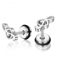 Earring Treble Clef Thickness 1.2mm Length 7mm