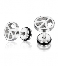 Earring Peace Thickness 1.2mm Length 7mm